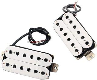 Healifty 2 piezas de pastillas de guitarra Humbucker doble bobina Humbucker pastillas y tornillos para guitarra eléctrica