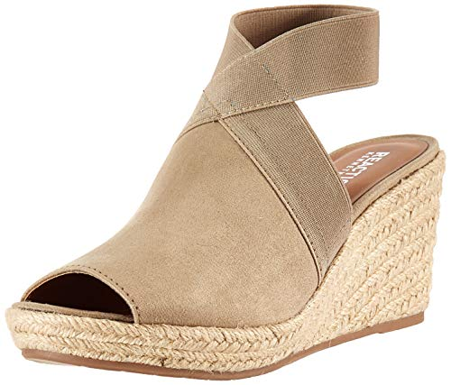 Kenneth Cole REACTION Women's Wedge Sandal, Mushroom, 10 M US