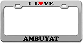 Product Express I Love AMBUYAT Brunei National Food Chrome License Plate Frame Tag Border & Cover