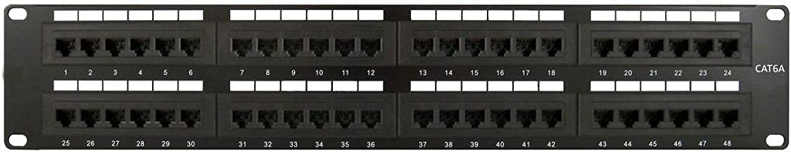 Patch Panel RJ45 Cat6A Keystone Jack UTP 48 Port Wallmount or Rackmount…
