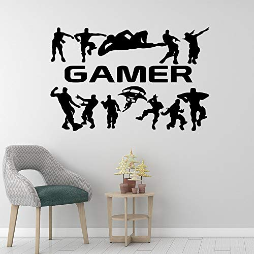 Personaje del juego Gamer Vinilo Adhesivo de pared Hollywood Movie Star