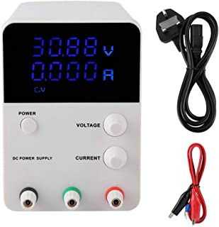 EU Plug 220V Adjustable 5A Switch Power Supply, 60V DC Power Supply Variable, Battery Charge for Lab Use Phone Repair(Brit...