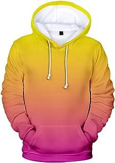 Men Hoodies Sweatshirt Tops, Male Solid 3D Printed Long Sleeve T-shirt Blouse Pullover Top