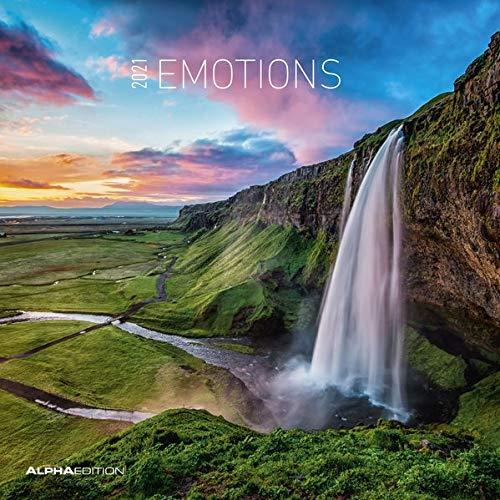 Alpha Edition - Calendario 2021 da muro Emozioni, 12 Mesi, 30x30 cm (30 x 60 aperto)