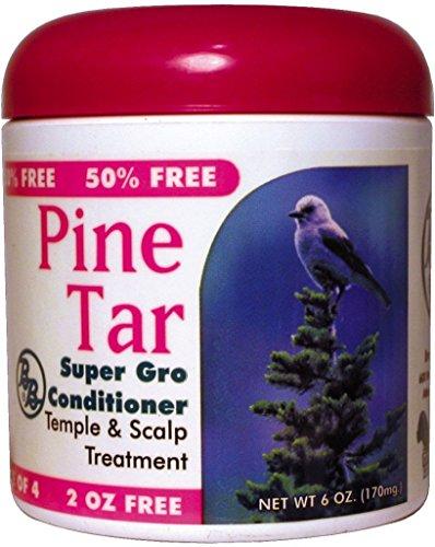 BB Pine Tar Super Gro Hair & Scalp Bonus 6 oz. (Pack of 6)