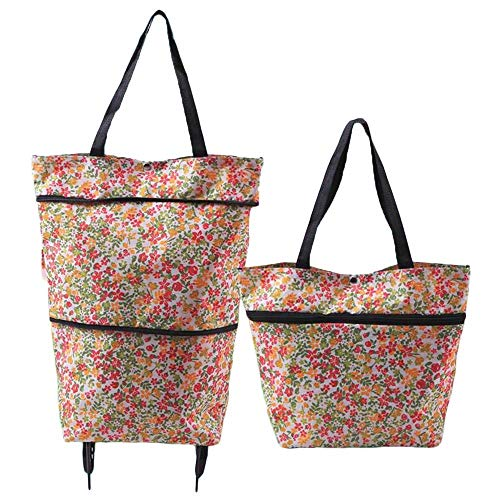 GYFG Dual Purpose Shopping Bag With Wheels (Load: 7.5kg) (Color : B-2)