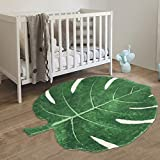 HAOCOO Area Rugs 2'x3' Leaves Faux Wool Bath Mat Non-Slip Door Carpet Soft Luxury Microfiber Machine-Washable Floor Bathroom Rug for Doormats Tub Shower (3'x3.7', Leaves)