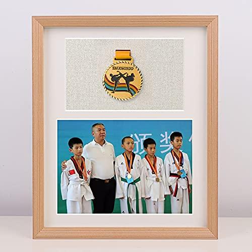 OVBBESS 3D Marcos de Fotos,Caja de medallas,Caja expositora Insignias Cajaexhibición medallas Marco para exhibir medallas,Marco para...
