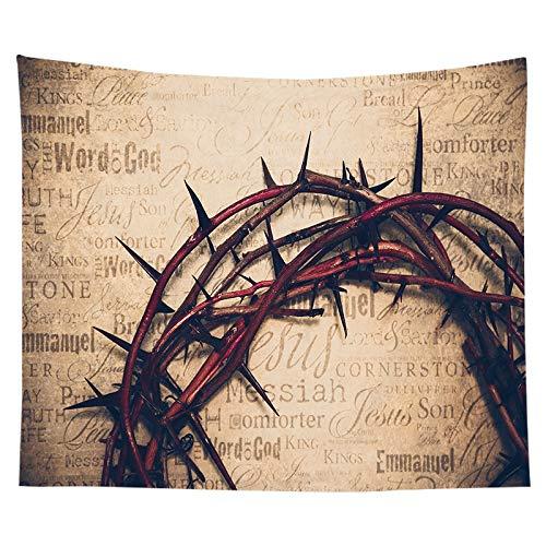 Tela para colgar, tela de fondo, tapiz de Jesús cristiano, junto a la cama, decoración del dormitorio, tela de fondo, tela a7 150x200cm