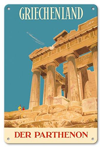 Pacifica Island Art 8x12 Cartel de Chapa Vintage-Grecia (