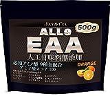 「JAY&CO. アミノ酸スコア100 人工甘味料無添加 ALL9 EAA 必須アミノ酸 9種を全配合 オレンジ, 500g」の画像