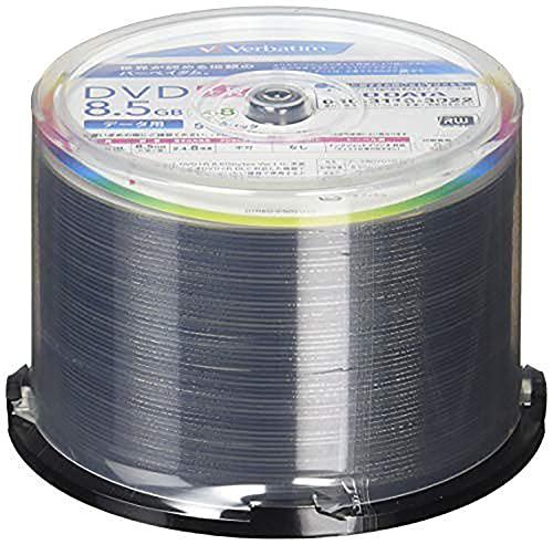 バーベイタムジャパン(Verbatim Japan) 1回記録用 DVD+R DL 8.5GB 50枚 ホワイトプリンタブル 片面2層 2.4-8倍速 DTR85HP50V1FFP [フラストレーションフリーパッケージ]