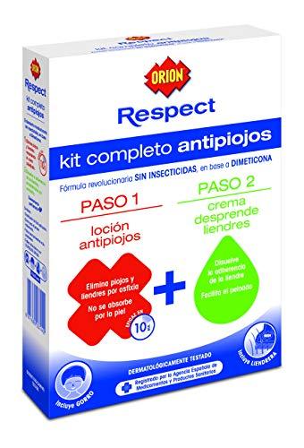 Orion Respect - Kit Completo Antipiojos (Loción Antipiojos + Crema Desprende Liendres)