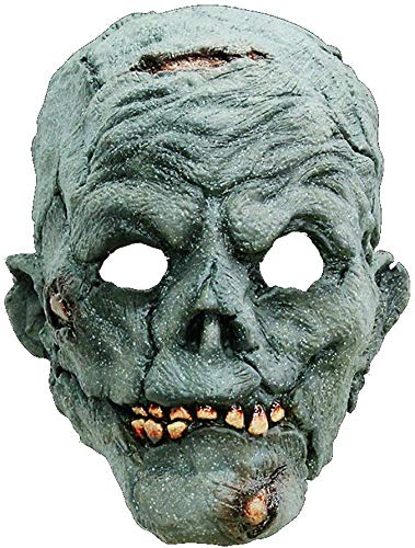 Zombie Maske des Grauens aus Latex - Erwachsenen Horror Kostüm Vollmaske - ideal für Halloween, Karneval, Motto- & Grusel-Party