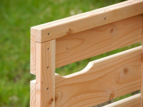 1er Mülltonnenbox / Mülltonnenverkleidung 120 L Holz, Grau Geölt - 5