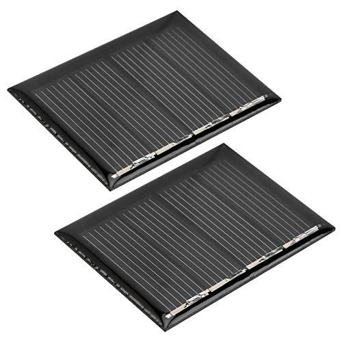 DAUERHAFT Cargador de energía Solar portátil 115MA / 2V Panel Solar de silicio policristalino Kit de Cargador Solar Ligero 2 Piezas para Luces domésticas para Todos los electrodomésticos pequeños