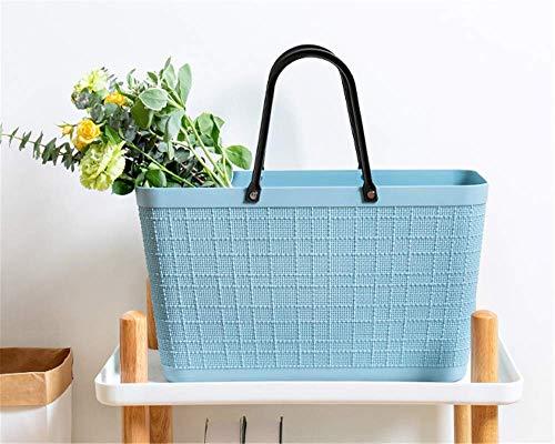 DGHJK Picnic Baskets Plástico multifunción portátil para el hogar Comprar Verduras Moda Ecológica Bolsa de Compras portátil y práctica