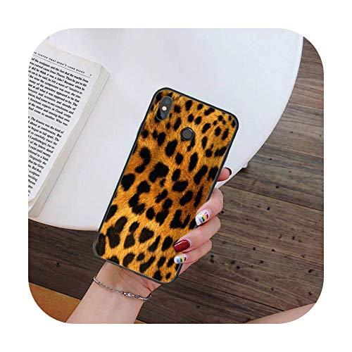 Hopereo Moda Sexy Leopard Print Panther teléfono caso para Xiaomi para Redmi 4X 5Plus 6A 7 7A 8 8A para Redmi Note 4 5 7 8 9 Nota 8T 8Pro 9Pro-A7-Para Redmi Note9