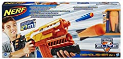 Demolisher 2-in-1 blaster fires darts, missiles, or both up to 90 feet Motorized dart blasting and pump-action missile blasting Acceleration trigger powers up the motor 10-dart banana clip Detachable stock with integrated missile storage Demolisher 2...