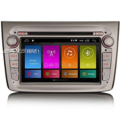 Autoradio ERISIN da 7 Pollici Android 10.0 per Alfa Romeo Mito GPS Supporto per Navigatore Satellitare Bluetooth CarPlay Wifi 4G DAB + Mirror Link DSP Amplificatore DVB-T 2GB RAM+16GB ROM