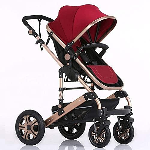 Cochecito portátil y liviano del cochecito de bebé Cochecito portátil y liviano Compacto y ligero 2 en 1 Sistema de viaje plegable de dos vías de sillas de dos vías, cochecito para bebés infantiles pa