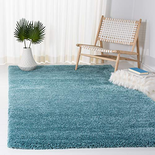 Safavieh Milan Shag Collection SG180 Solid 2-inch Thick Area Rug,...