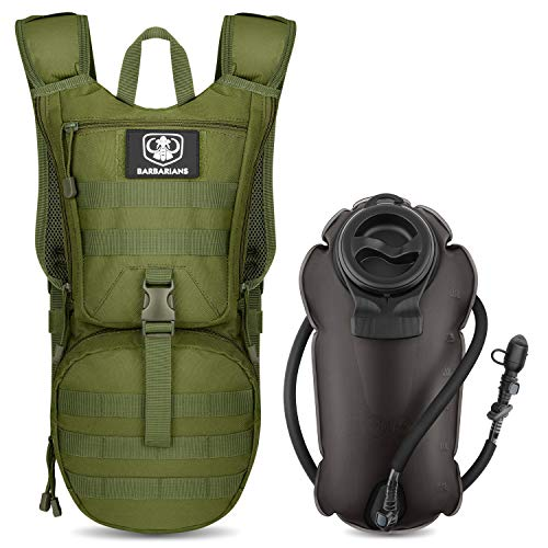 Tactical Hydration Pack Water Backpack with 3L Bladder, Barbarians...