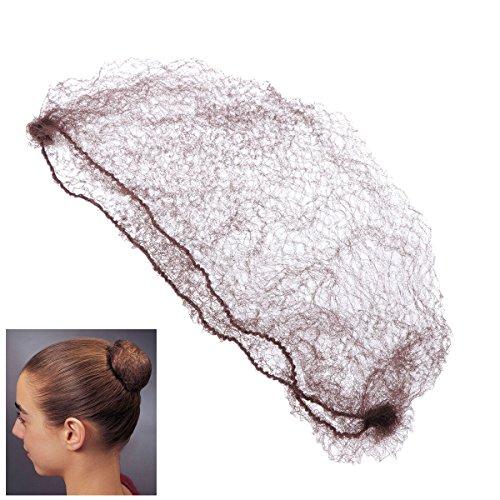 Healifty 50pcs Haar Netze Invisible Elastic Edge Mesh für Frauen Phantasie Haarschmuck Haarnetz für Mädchen, Kaffee