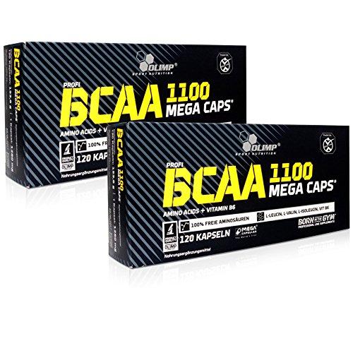 OLIMP BCAA Mega Caps Aminosäure 1100mg/Kapsel, 2 x 120 Kapseln