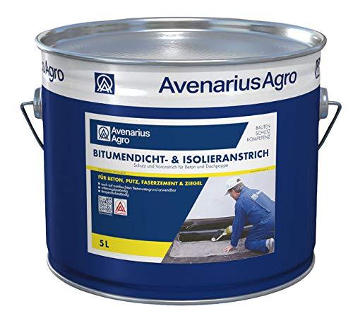 Avenarius Agro Bitumen-Dicht Isolieranstrich Bitumenanstrich für Keller Dach uvm (5 Liter)