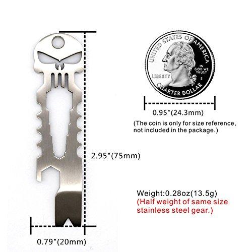 TI-EDC Titanium Keychain Beer Opener Spanner Multifunctional Tool (Titanium)