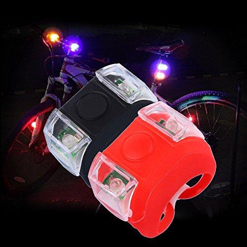 2pc Fahrradlicht wasserdichte Rücklicht Led Heckfahrrad Licht Mountainbike Universal Fit Mit Clip Mount Strap, Blau + Rot