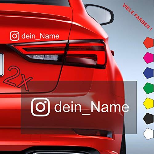 Dr.Shield Namen Aufkleber für Instagram Werbung - Wunschtext Aufkleber JDM/Tuning/Auto/Motorrad 2 Stück