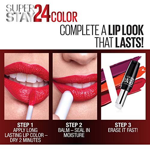 Maybelline SuperStay 24, 2-Step Liquid Lipstick, Keep It Red