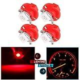 cciyu 4X T5 B8.4D 5050 LED SMD Red Dash Auto Dash Gauge Instrument Panel Light Bulb/BMW E32 E34 E36 Dash Gauge Instrument LED Replacement fit for Dashboard Gauge Indicator Instrument Speedometer
