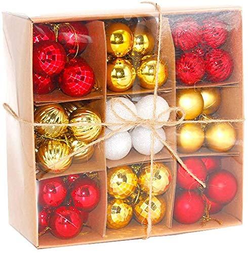 Bolas De Navidad Decoración De Navidad Chucherías Para El Árbol De Navidad - Inastillable Ornamentos De Navidad De La Bola Con La Cuerda Que Cuelga De Fiesta De La Boda Decoración De Vacaciones