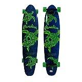 Paradise Longboards Turtle Skull Kicktail 9.75' x 44' Blue/Green