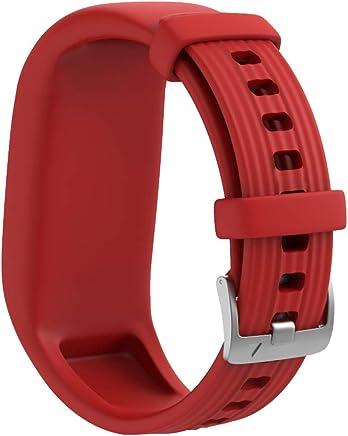 NotoCity Compatible Garmin Vivofit JR 2 Watch Bands Sport Ssilicone Wwatch Strap for Garmin Vivofit JR/Vivofit JR 2/Vivofit JR 3 Watch (Red)