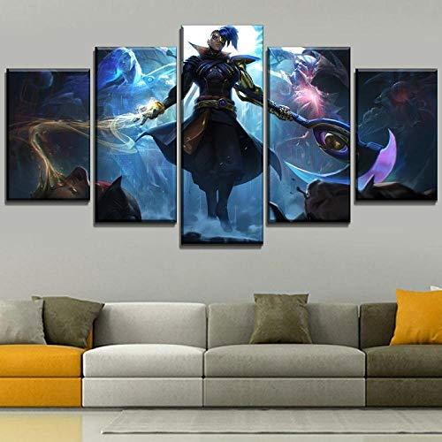 Impresiones en lienzo Póster Juego de arte de pared Kayn League Of Legends Pintura Decoración del hogar Imágenes abstractas Sala de estar creativa + Póster impreso en lienzo Juego de arte de pare