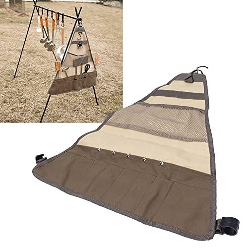 SALUTUY Bolsa de Almacenamiento, Juego de Utensilios de Cocina de diseño de Compartimentos múltiples Bolsa de Almacenamiento para picnics Camping Bosques