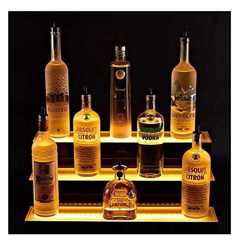 LSGMC Acryl Weiß Beleuchtetes Weinregal mit Fernbedienung LED beleuchteter Alkohol-Flasche Display Beleuchtetes Flasche Regal für Brithday, Hochzeit Weihnachtsfeier, Club, Bars,80 * 33 * 21cm