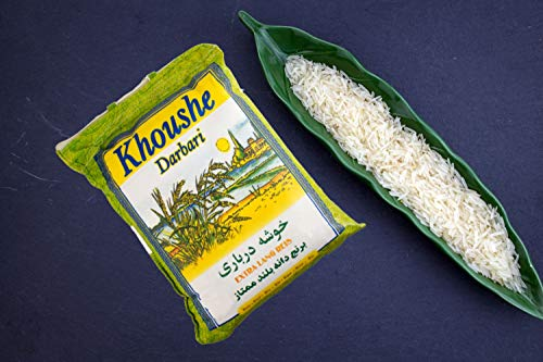 Khoushe Darbari Reis, Basmati Reis 5 kg (Khoushe Momtaz) für Reiskocher und Reiskuchen / Reiskruste (Tahdig)