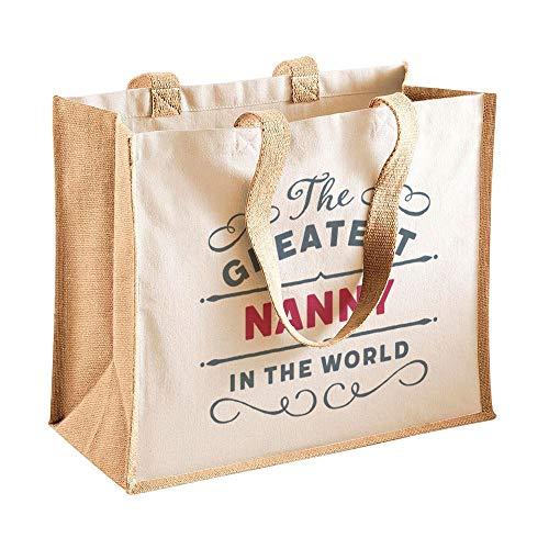 Regalo de Nanny, bolsa de cumpleaños, regalo personalizado fantástico para Navidad, Navidad o Día de la Madre, regalo divertido y novedoso de Niece Nanny Keepsake 42 x 33 x 19cm natural
