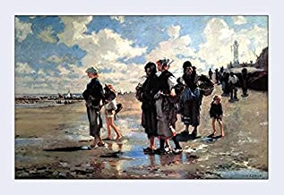 Buyenlarge Oyster Gatherers of Cancale - Gallery Wrapped 28