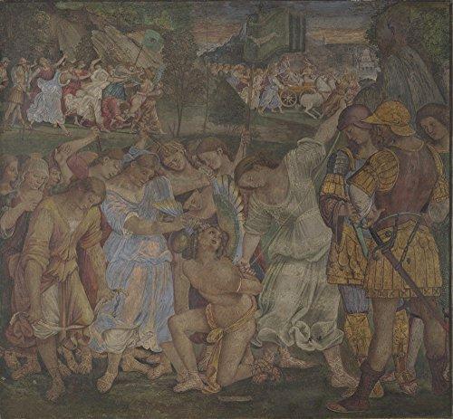 The Museum Outlet – Luca Signorelli – Le Triomphe de la Chasteté – Amour Désactivée et reliées, Tendue sur toile Galerie enveloppé. 50,8 x 71,1 cm