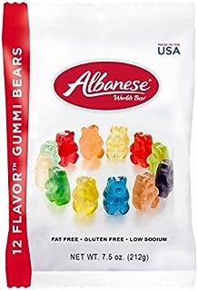 Albanese World's Best 12 Flavor Gummi Bears, 7.5oz Peg Bag