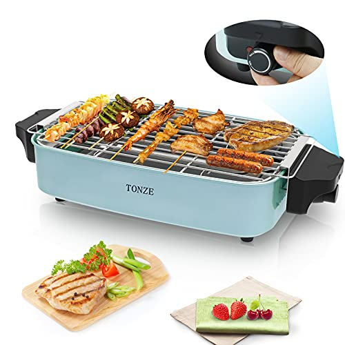 BBQ Grill Electric Korean BBQ Grill Raclette Table Top Grill Indoor...