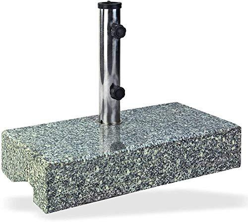 LHYLHY Soporte para sombrilla Medio 25 kg Granito