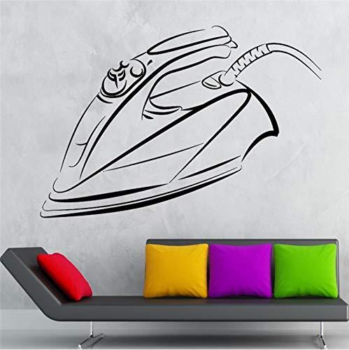 Wuyii 55X88 cm ijzer vinyl wandtattoohousewife huishoudhouder wasgoed muurschildering wandsticker wasmand kamer hotel huis decoratie