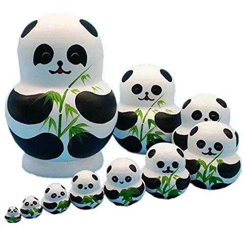 Nest Dolls Cats Matryoshka Dolls for Kids, Children es Wood gestapelte Nistkäster handgemachtes Spielzeug Kinder